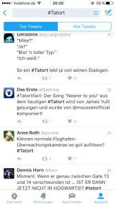 der Hashtag Tatort bei Twitter