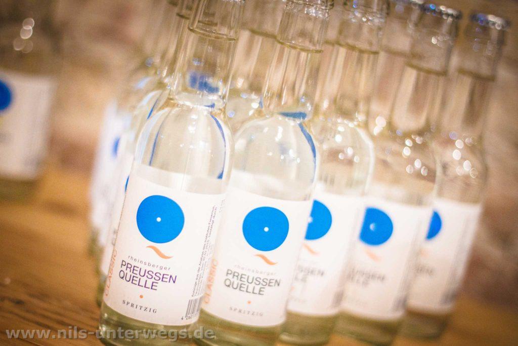 Flaschen der Rheinsberger Preussenquelle