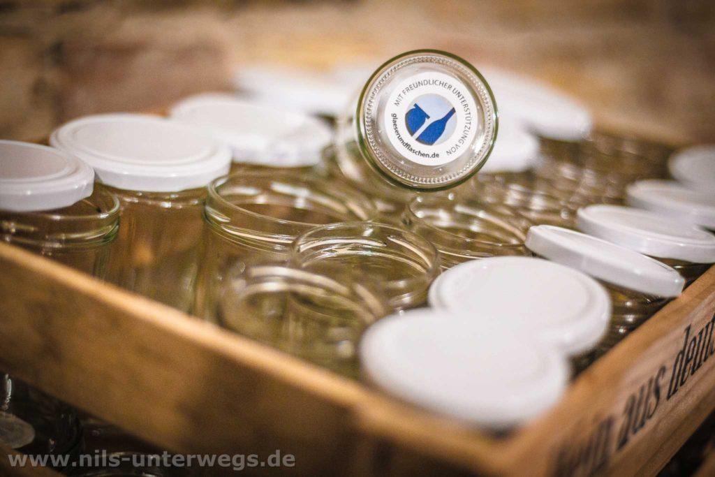 glaeserundflaschen.de unterstützen das Foodiemeetup mit Gläsern